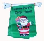 SANTA PLEASE STOP HERE BUNTING - 3 METRES 10 FLAGS
